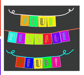 Alphabet Bunting Flags -- Make Your Own DIY -- Printable Bunting