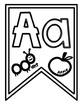 Alphabet Bunting Flags for Signs and Charts
