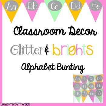 Alphabet Bunting - Glitter&Brights