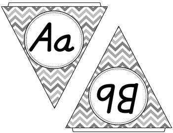Alphabet Bunting {In Chevron}