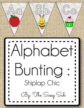 Alphabet Bunting: Shiplap Chic Theme