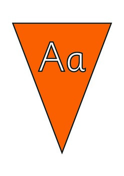 Alphabet  Bunting . Upper and Lower Case.