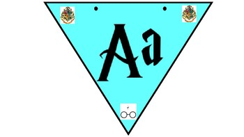 Alphabet Bunting for Classroom using a Harry Potter inspired font