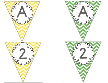 Editable Alphabet Bunting with Colorful Chevron {Includes Numbers}