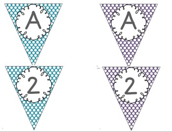 Editable Alphabet Bunting with Jewel Tone Polka Dots {Includes Numbers}