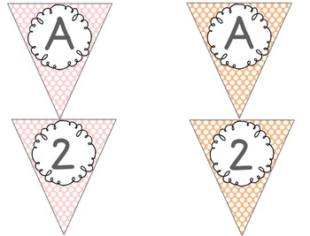 Editable Alphabet Bunting with Pastel Polka Dots {Includes Numbers}