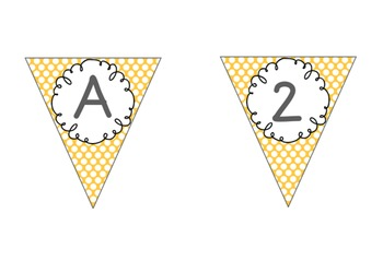 Editable Alphabet Bunting Polka Dots red, black, gray, gold, brown {Numbers}