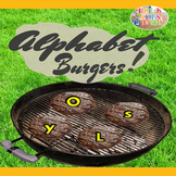 4th of July Alphabet Burgers Summer Game- BBQ Cookout