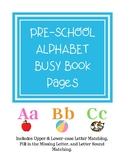 Alphabet Busy Book Pages