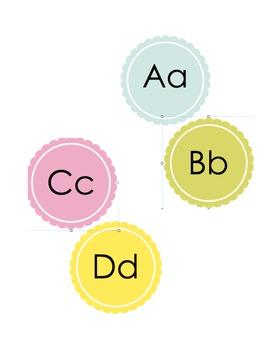 Alphabet Button Posters