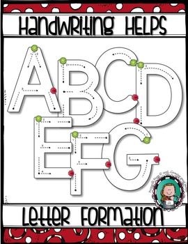 Alphabet CAPITAL LETTER FORMATION {Handwriting Helps}