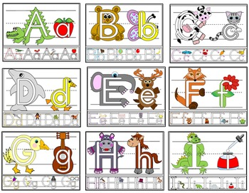 Alphabet Play Dough Mats with Lines and Tracing Strips