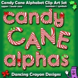 Candy Cane Alphabet Letters Clip Art | Christmas Bulletin Board Letters