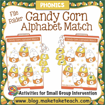 Alphabet - Candy Corn File Folder Alphabet Match