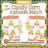 Alphabet - Candy Corn File Folder Alphabet Match