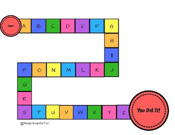image about Printable Candyland Cards identified as Alphabet Candyland Recreation For Uppercase/Lowercase Letter Attractiveness