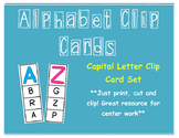 Alphabet Capital Letter Clip Cards