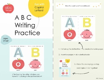 Alphabet Capital Letters A-Z Writing Practice