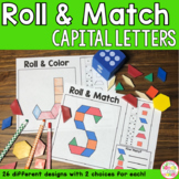 Alphabet Capital Letters Pattern Blocks Mat Roll and Match Game