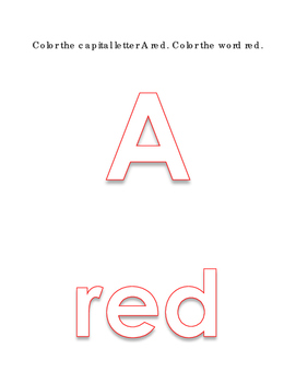 Alphabet Capital Uppercase Letters A to Z Coloring 11 Colors 26p Preschool