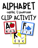 Alphabet Capital and Lowercase Clip Activity