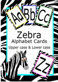 Alphabet Card Upper and Lower case Zebra Pattern