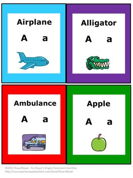Alphabet Cards and Worksheets