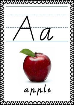 Alphabet Cards Display dotted thirds