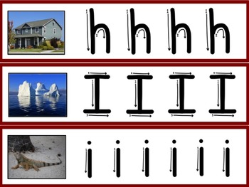 Alphabet Cards With Directional Arrows and Photos
