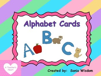 Upper Case Alphabet Cards