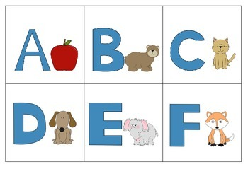 Upper Case Alphabet Cards