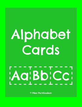 Alphabet Flash Cards for Word Work