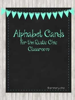 Rustic Chic Alphabet Cards