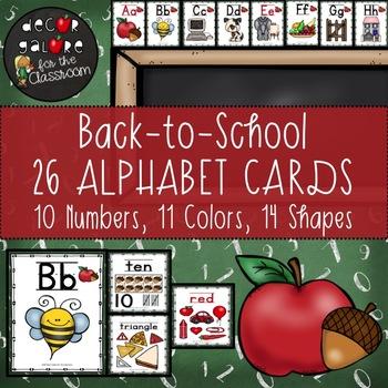 Alphabet Cards - Back-to-School Decor