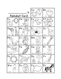 Alphabet Cards + Beginning Sound Pictures (Phonetic Spelling Aid)