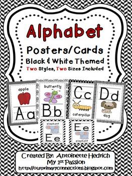 Alphabet Posters (Black & White Themed)
