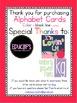 Alphabet Cards Black line & Color