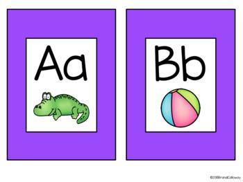 Alphabet Cards-Bright Colors