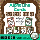 Alphabet Cards Camping Theme - Print Version