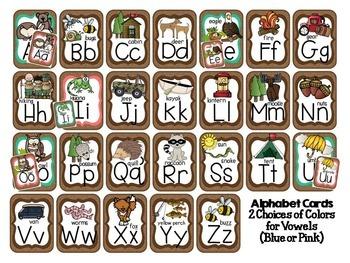 Alphabet Cards Camping Theme - Print Version