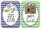 Alphabet Cards Camping/Forest Theme D'Nealian
