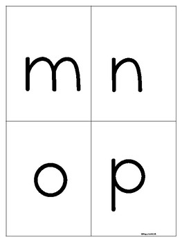 Alphabet Cards Capital and Lower Case