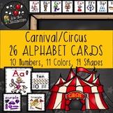 Alphabet Cards - Carnival / Circus Decor