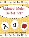 Alphabet Cards Center Sort
