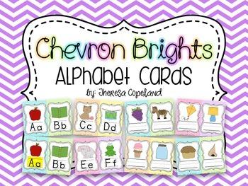 Alphabet Cards {Chevron Brights}