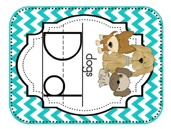 Alphabet Cards Chevron (Blue, Yellow, Brown)