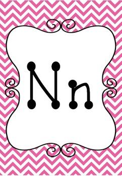 Alphabet Cards {Chevron & Dots} Brights!