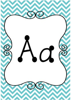 Alphabet Cards {Chevron & Dots} Brights!