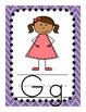 Alphabet Cards - Chevron and Polk-a-Dot Background
