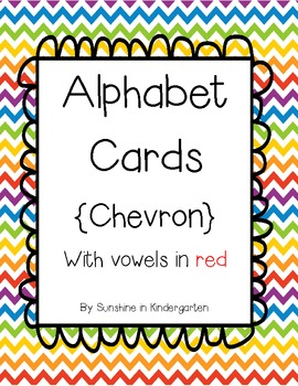 Alphabet Cards {Chevron pattern}